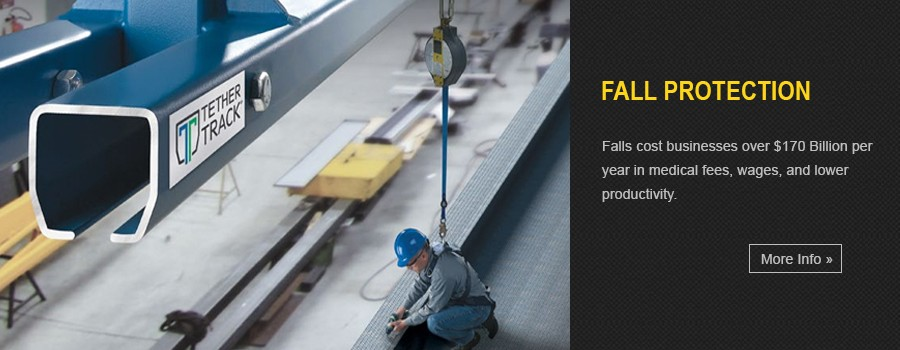 Fall Protection - Tether Track™ fall protection systems by Gorbel. Gorbel fall protection systems utilize a rigid rail system for fall arrest applications.