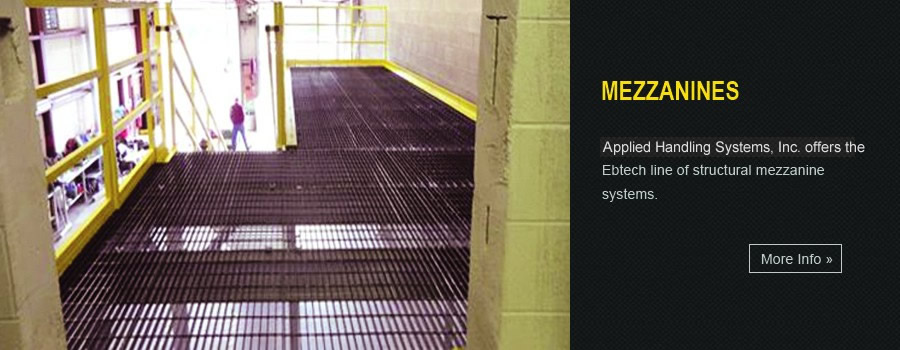 Mezzanine catwalks, handrail systems, stairways and landings, and structural steel mezzanines.